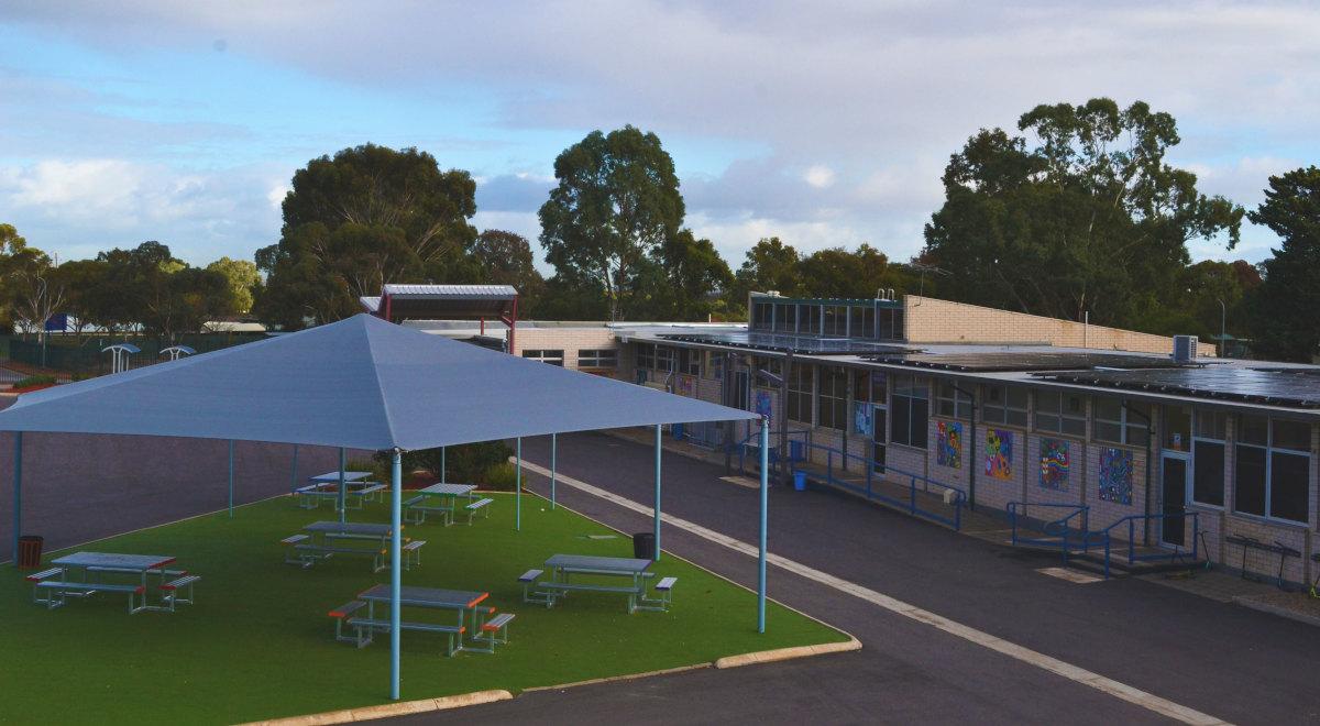 aerial view of school yard