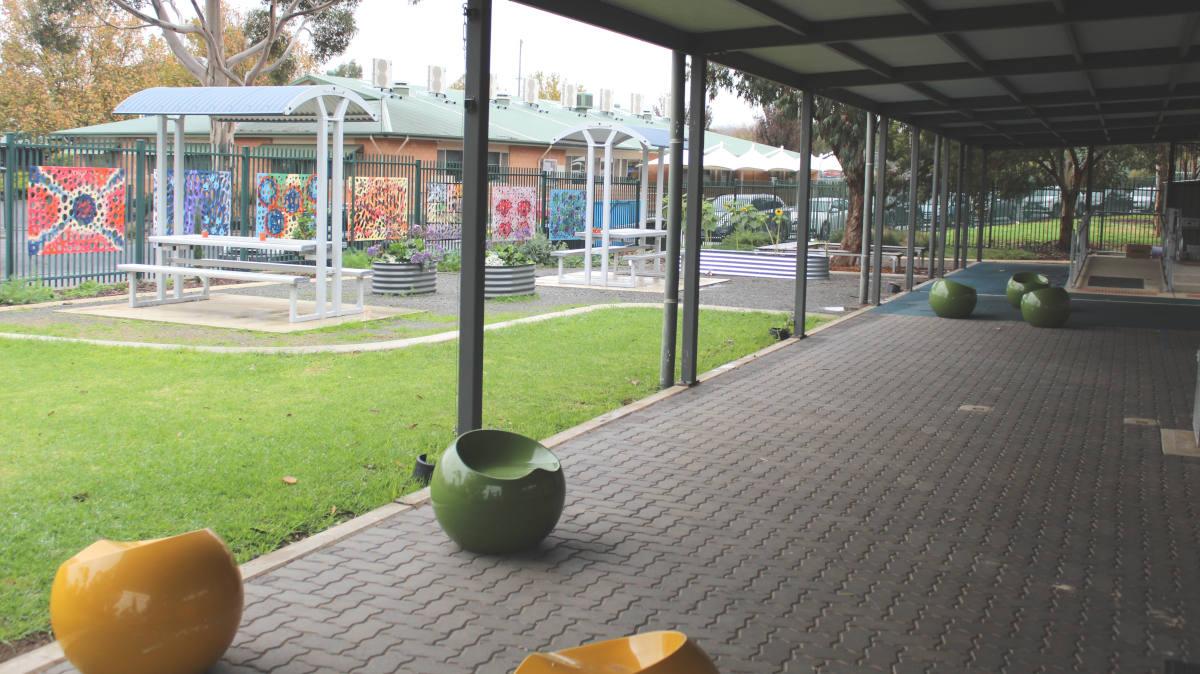 school yard corridor